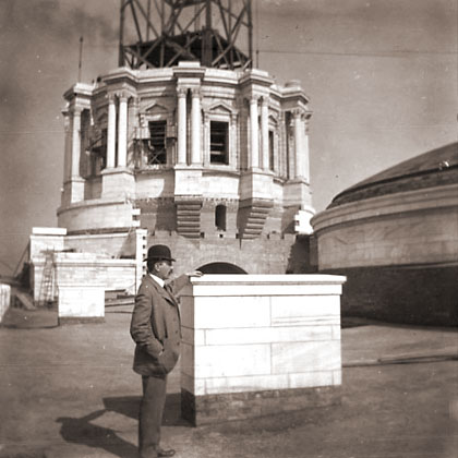 Cass Gilbert and                   the Minnesota State Capitol under construction